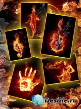 Огненные объекты на черном фоне (подборка изображений)