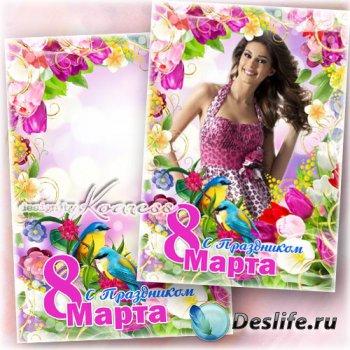 Праздничная рамка для фотошопа - Яркие краски весны