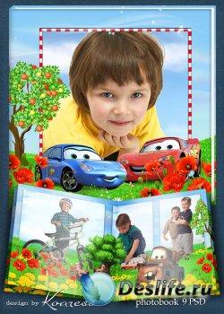 Детский фотоальбом - Летние каникулы с тачками