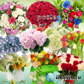 Клипарт в png - Букеты цветов