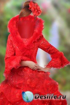 Шаблон для фотошопа женский – В прекрасном наряде