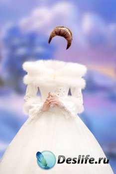 Женский костюм для фотошопа – Принцесса в белом