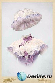 Женский костюм для фотошопа – Ретро-портрет