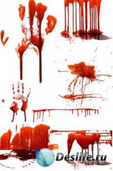 Кровь, потеки крови (подборка изображений) прозрачный фон