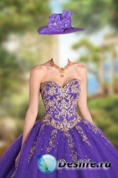 Женский костюм – Бальное платье с золотым украшением