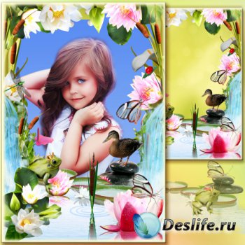 Рамка для фото - Озёрные лилии
