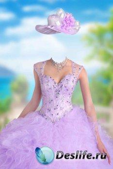 Костюм для фотошопа женский – Фиолетовое платье
