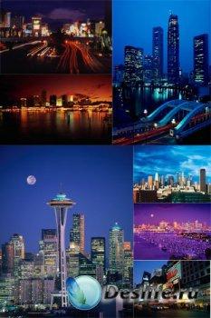 Ночной город, дневной город (подборка растровых изображений)