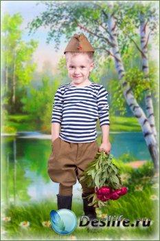 Детский костюм для мальчика – Юный солдат