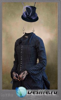 Женский костюм для фотошопа – Винтажное фото