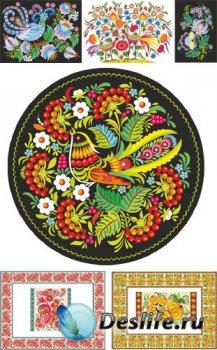Славянский народный орнамент (подборка векторных отрисовок)