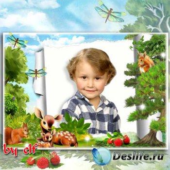 Детская рамка для фото - В чудесном сказочном лесу