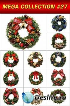 Мега коллекция №27: Праздничные украшения (Рождественские венки)