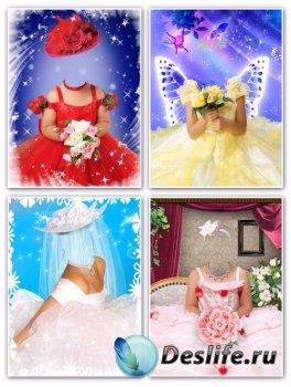 Детские костюмы для фотошопа девочкам – Нарядные платья