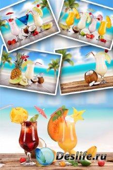 Пляж и коктейль (подборка изображений)