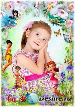 Детская рамка для фото - Страна фей
