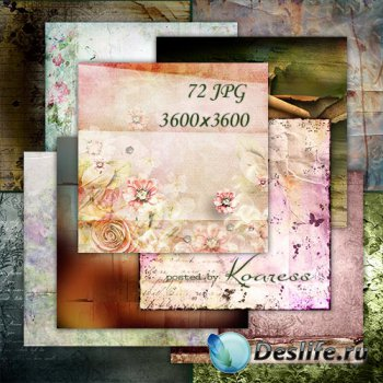 Подборка винтажных фонов для дизайна - Рваная, мятая бумага