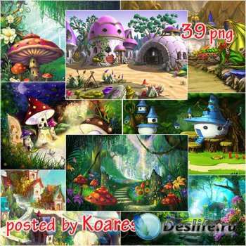 Подборка детских сказочных фонов для дизайна