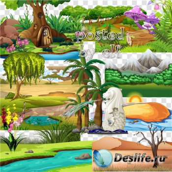Элементы пейзажа в png