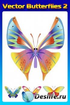 Бабочки (насекомые в векторе) часть вторая