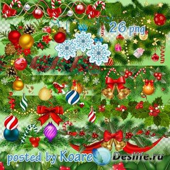 Зимний клипарт png для фотошопа - Новогодние и рождественские гирлянды и бо ...