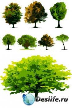 Векторные деревья (подборка отрисовок)