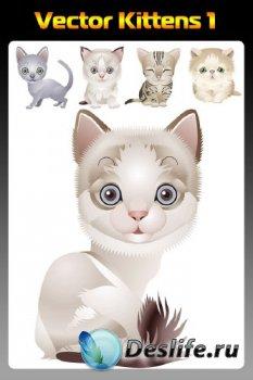 Векторные котята (подборка отрисовок) первая часть