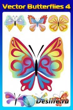 Бабочки (насекомые в векторе) часть четвертая