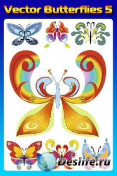 Бабочки (насекомые в векторе) часть пятая