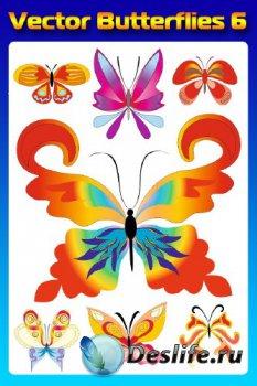 Бабочки (насекомые в векторе) часть шестая