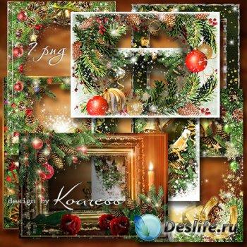 Новогодние поздравительные фоторамки-открытки в png - Блестящего Нового Год ...