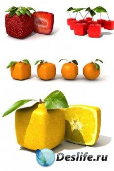Квадратные фрукты и ягоды