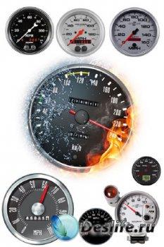 Автомобильный спидометр (прозрачный фон)