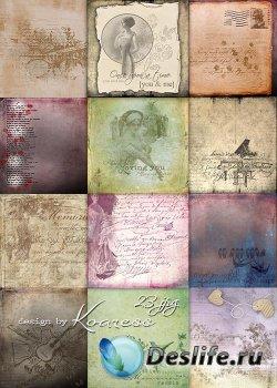 Винтажные jpg фоны с надписями для дизайна - Старых писем нежные слова