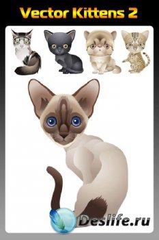 Векторные котята (подборка отрисовок) вторая часть