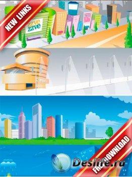 Векторный сток: города и улицы (рабочие ссылки, бесплатные файлообменники)