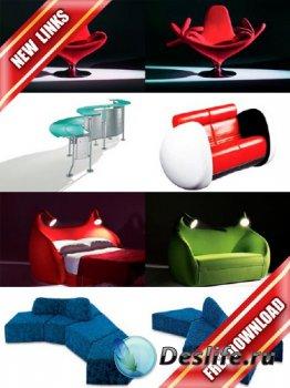 Фотосток: дизайнерская мебель (рабочие ссылки, бесплатные файлообменники)