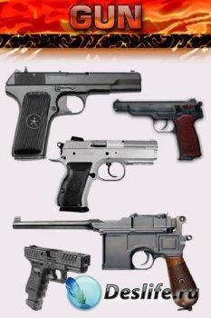 Оружие: Пистолет (прозрачный фон)