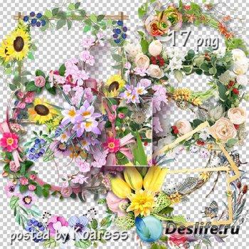 Подборка png рамок-вырезов для дизайна - Цветочная коллекция 2