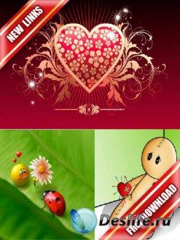 Обои на тему любовь (Love wallpapers) (рабочие ссылки, бесплатные файлообменники)
