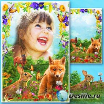 Рамка для фото - Весенний луг