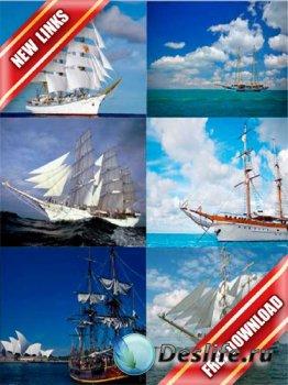 Фотосток: парусники, фрегаты, каравеллы, яхты (водный транспорт) (рабочие с ...