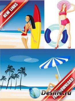 Векторный сток: люди на пляже (рабочие ссылки, бесплатные файлообменники)