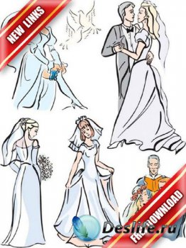 Векторный сток: свадьба, венчание,  (рабочие ссылки, бесплатные файлообменники)
