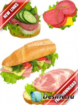 Фотосток: еда - бутерброды и сендвичи (ветчина, колбаса, бекон) (рабочие сс ...