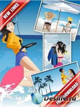 Векторный сток: Люди на пляже (часть вторая) рабочие ссылки, бесплатные файлообменники
