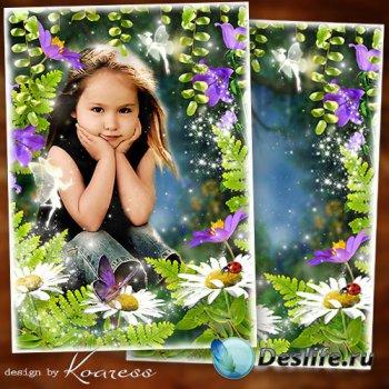Рамка для детских фото - В волшебном сказочном лесу