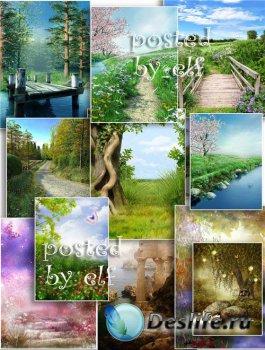 Пейзажные фоны для фотошопа