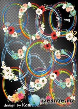 Рамки-вырезы в png для дизайна - Такие нежные цветы