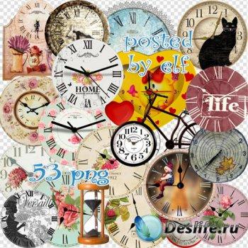 Клипарт PNG на прозрачном фоне - Разнообразные часы